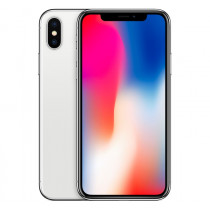 Apple iPhone X A1901 64GB Unlocked Smartphone-Silver-Great