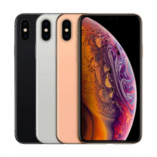Black, Silver, and Gold Apple iPhone XS Max aligned horizontally